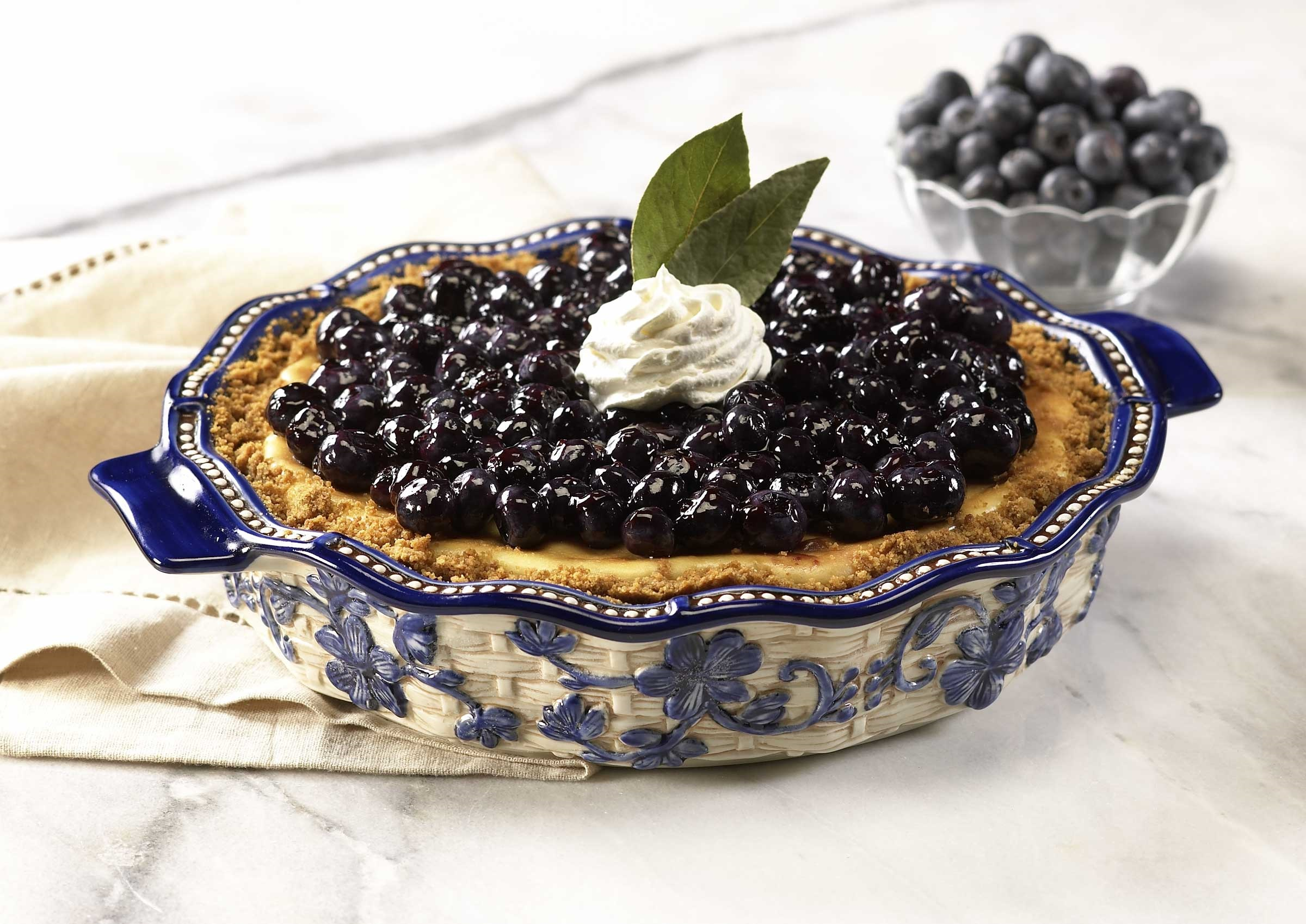 Blueberry Cheesecake : temptations pie plate - pezcame.com
