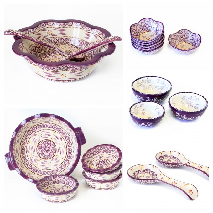 temp-tations® Old World and Floral Lace Eggplant