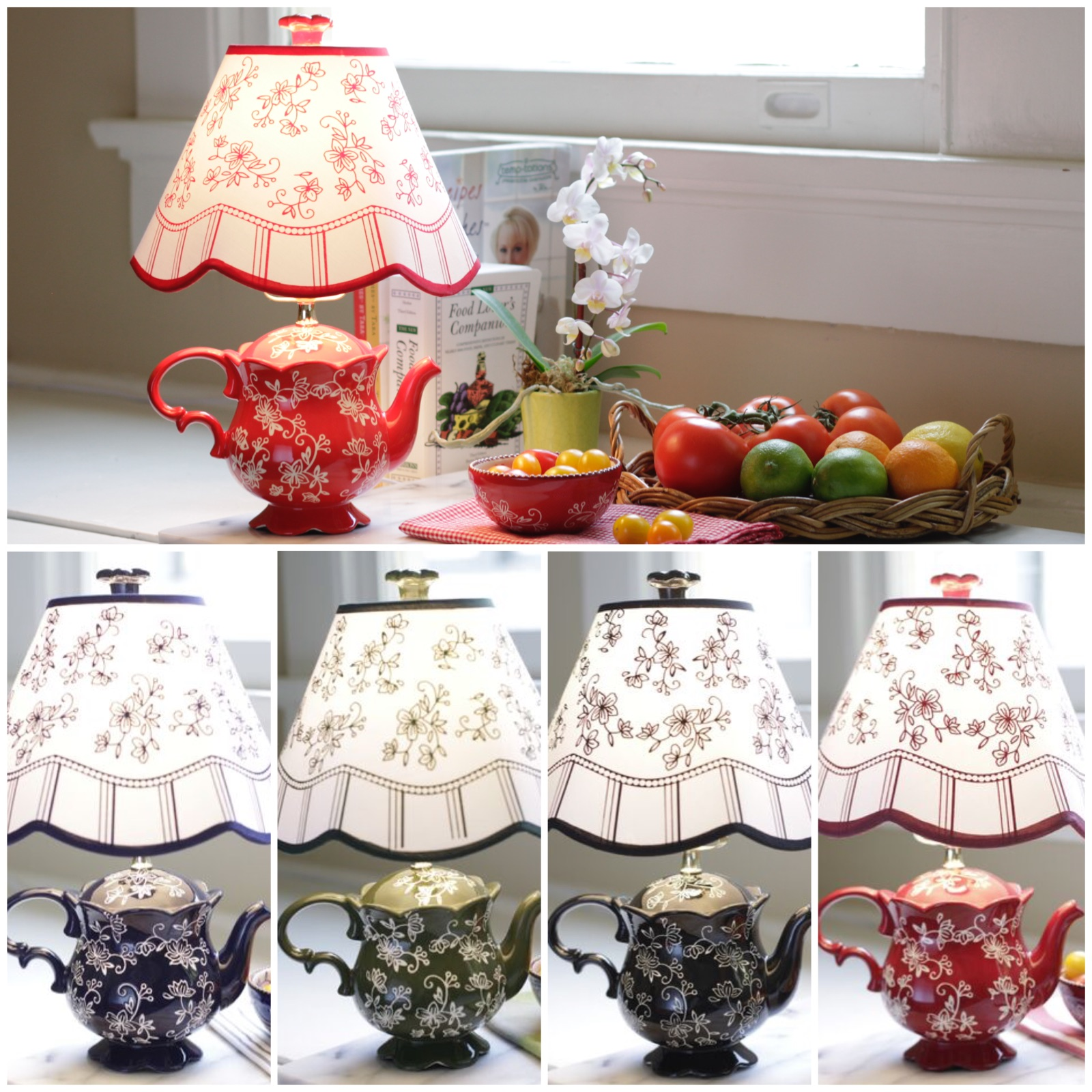 Teapot Lamp colors
